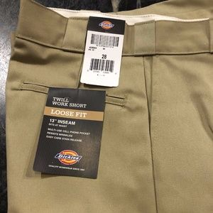 """Dickies Twill Work Shorts 13"""" inseam size 28"""